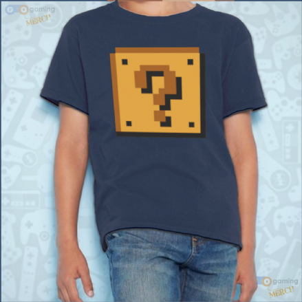 Mario Bros Question Mark Block Design Kids T-Shirt